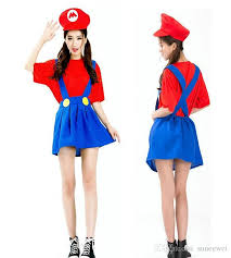 5t Halloween Costumes Women Girls Super Mario Luigi Plumber Bros Costume Halloween Super