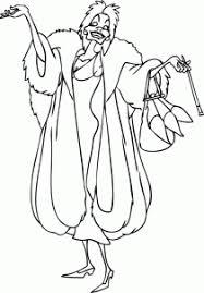 draw draw cruella vil 101 dalmatians