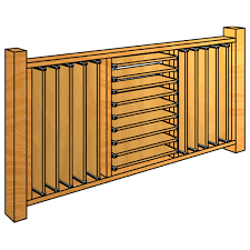 how to build a fully louvered deck railing using flex u2022fence