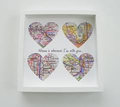 wedding gift map unique wedding gift personalized map heart any idealpin