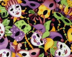 mardi gras material mardi gras mask fabric five 6 cotton fabric block quilt