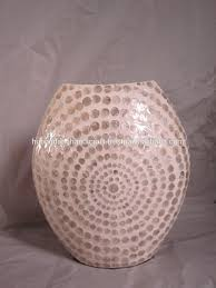 hand made lacquer seashell vase and decorations home and art