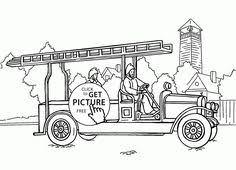 simple garbage truck coloring kids transportation