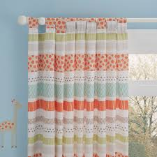 Yellow Nursery Curtains by Animal Cream U0026 Orange Striped Printed Tab Top Lined Children U0027s