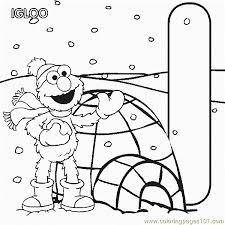 abc letter igloo sesame street elmo coloring pages 7