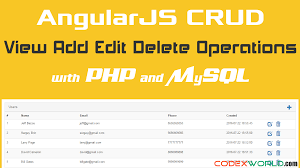 Mysql Delete From Table Angularjs Crud Operations With Php And Mysql Codexworld