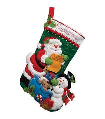 Stocking Bucilla Felt Applique Kit Santa U0027s List Stocking Joann
