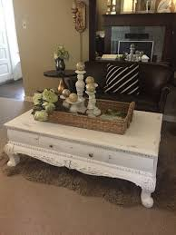 antique white distressed coffee table white chalk paint coffee table rustic furniture farm house