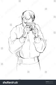 sketch young man camera stock illustration 34610311 shutterstock