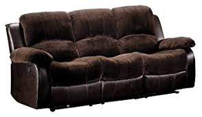 Microfiber Reclining Sofa Homelegance 9700fcp 3 Reclining Sofa Brown