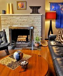quality stone veneer for a beach style living room with a stone