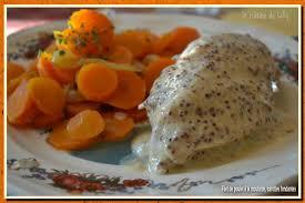 cuisine filet de poulet filets de poulet à la moutarde carottes fondantes la cuisine de lilly