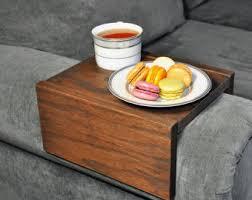 Sofa Arm Table by Sofa Armrest Table Couch Armrest Chair Caddy Wood Tray