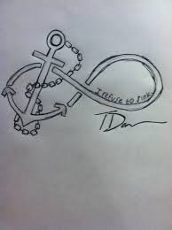I Refuse To Sink Anchor Tattoo Meaning by I Took The Ideas I Wanted And Made My Own Infinity Tattoo With An