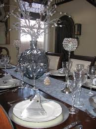 Christmas Table Decorations In Blue And Silver by Home Design Amusing Silver Christmas Table Settings Stunning