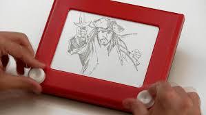 etch a sketch pirates disney video