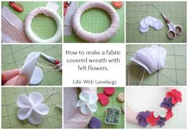 easter fabric felt wreath hop with lovebugs