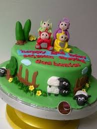 kupkui cakes teletubbies cake happy birthday akbar teletubisie