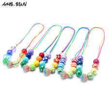 beaded necklace rope images 2018 msh sun kids chunky bubblegum necklace rainbow beads necklace jpg