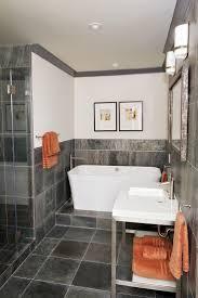 Bathroom Slate Tile Ideas Colors 11 Best Ideas For Guest Bathroom W Black Slate Floor Images On