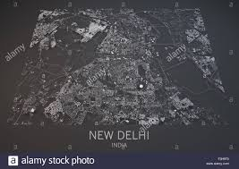New Delhi India Map by Map Of New Delhi India Satellite View Map In 3d Black And