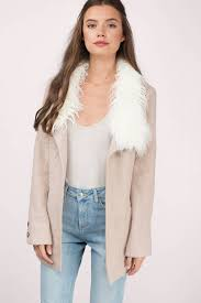 sweater with faux fur collar trendy mocha coat brown coat faux fur coat mocha coat 32