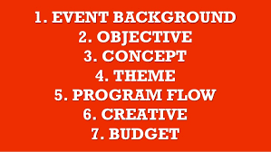 how to build a event proposal