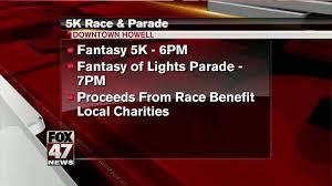fantasy of lights 5k howell hosts 5k before fantasy of lights parade