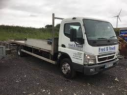 mitsubishi fuso 7c18 57reg 24ft flatbed ideal scaffolding or