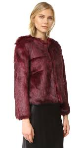 cupcakes and cashmere snyder luxe faux fur jacket shopbop