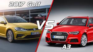 vw golf audi a3 2017 volkswagen golf facelift vs audi a3