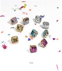glitter stud earrings my luxefinds style guide kate spade multi glitter stud earrings