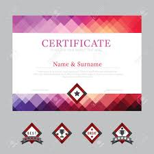 certificate template layout background frame design vector modern