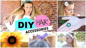 hairstyles with haedband accessories video quick and easy diy hair accessories youtube