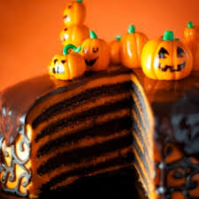 chocolate orange layer cake for halloween tastespotting