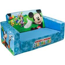 mickey mouse clubhouse flip open sofa with slumber marshmallow 2 in 1 flip open sofa disney mickey mouse 35 way