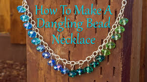 make bead chain necklace images How to make jewelry how to make a dangling bead necklace jpg