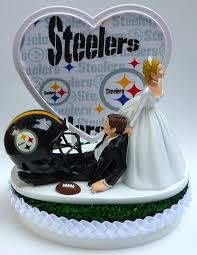 gifts for steelers fans wedding cake topper pittsburgh steelers football themed w