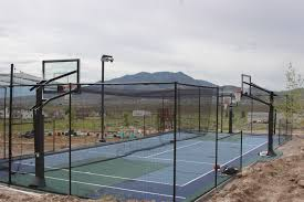 exterior eagle mountain sport court game court with batting cage