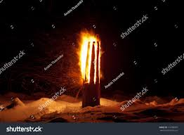 winter solstice pagan traditions latvia yule stock photo 116790979