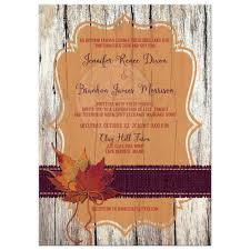 autumn wedding invitations autumn wedding invitation faux wood leaves burlap and twine bow