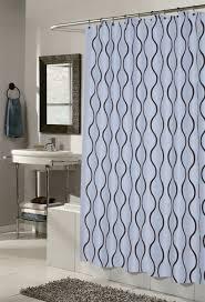 Shower Curtain Blue Brown Geneva Blue Brown Fabric Hookless Shower Curtain