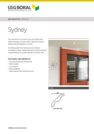 Gyprock Cornice Profiles Decorative Cornice Sydney 90mm Profile Usg Boral