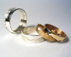 alternative wedding ring damson coastline rings interlocking rings created from a stretch