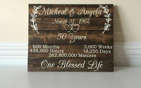50th anniversary gift for parents 50 year anniversary 50th anniversary ideas custom wood sign