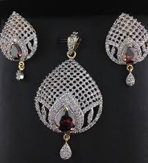sapphire necklace price images American diamond pendant set with pink sapphire indian kundan jpg