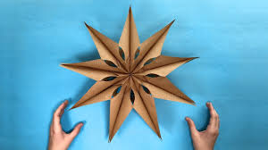 how to make an easy paper star with paper bags christmas crafts