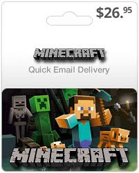 minecraft cards 26 95 minecraft gift card email delivery buy minecraft gift card