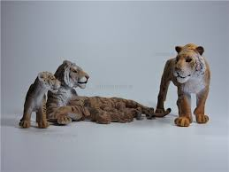 family set simulation model decoration bengal tiger family