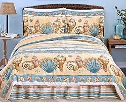 Coastal Comforters Bedding Sets Coastal Shoreline Beige Seashell Comforter Set Comforter Queen